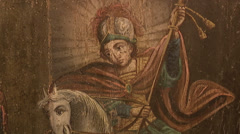 Icon of St. George the Victorious Stock Footage