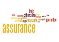 assurance word cloud - stock illustration