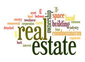Stock Illustration of real estate word cloud