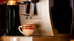 The machine produces coffee - stock footage
