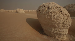 Limestone formations in the White Desert, Egypt - 4 clips Stock Footage