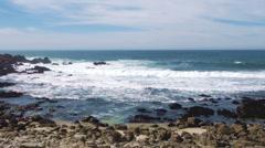 Rocky coast between Point Joe and China Rock Stock Footage