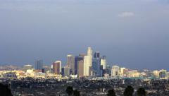 4K Los Angeles Timelapse 38 Tilt Up Downtown Cloudscape - stock footage