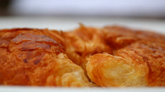 Close-Up of Croissant Stock Footage