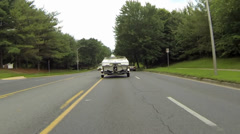 Truck with a Boat on Trailer Stock Footage