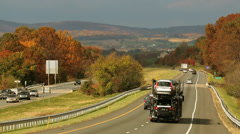 Scenic Fall Drive on Highway - stock footage
