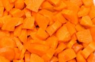 Stock Photo of Chopped carrots - can be used as background