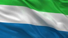 Flag of Sierra Leone - seamless loop Stock Footage