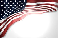 united states flag - stock illustration