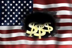 United states flag Stock Illustration