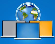 computer laptop - stock illustration