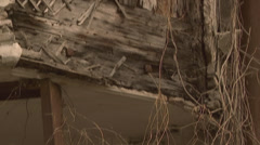 window in old abandoned house - stock footage