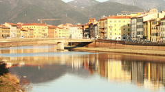 Pisa and Arno River Stock Footage