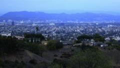 4K Los Angeles Timelapse 41 Tilt Up Sunset Clouds - stock footage