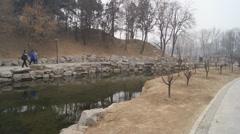 China Beijing Park Yuanmingyuan 16 Stock Footage