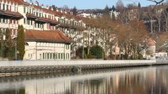 Aare River in Bern Stock Footage