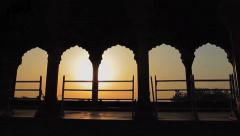 Sunrise from Inside Jama Masjid Stock Footage