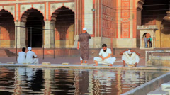 People Near Water at Jama Masjid Stock Footage