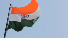 Close-Up of India's Flag Stock Footage