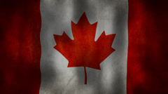 Canada's flag waving HD Stock Footage