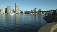 Boats in False Creek, Vancouver Stock Footage