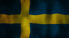 Swedish flag waving HD Stock Footage