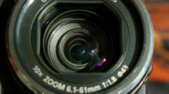 Zoom lens operation Stock Footage