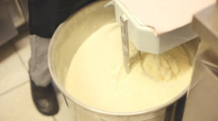 Making batter with electric mixer Stock Footage