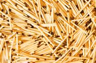 Stock Photo of Group of wooden matches arranged as background