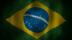 Brazil flag waving HD Stock Footage