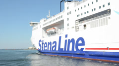 A ferry company Stena Line leaves the deep water port Stock Footage