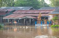 Stock Photo of house flood in thailand
