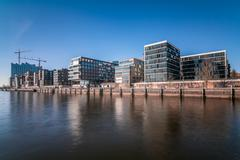 Hafencity in Hamburg Stock Photos