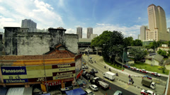 Kuala Lumpur Street view Stock Footage