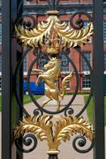 Decoration of metal gate in Kensington palace Stock Photos