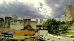 Kuala Lumpur Street View - stock footage