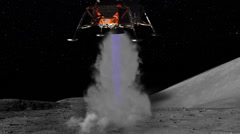 Moon Landing of Lunar Module of Apollo 11, HD Stock Footage