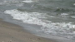 Marine waves washings a bank Stock Footage