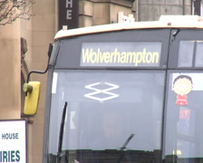 Wolverhampton bus sign.mp4 Stock Footage