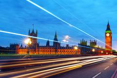 big ben, one of the most prominent symbols of both london and england - stock photo