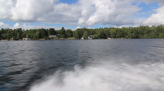 Muskoka shoreline. Stock Footage