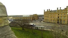 Railway station York Yorkshire England Stock Footage