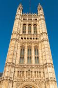 tower in the building of british parliament - stock photo