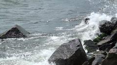 Stones are circumfluous marine waves Stock Footage