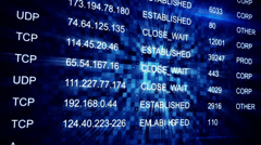 IP address seamless loop background - stock footage