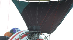 Hot air balloon burners Stock Footage