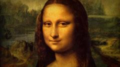 Mona Lisa - Leonardo Da Vinci -Renaissance Painting Animation Stock Footage