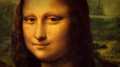 Mona Lisa - Leonardo Da Vinci -Renaissance Painting Animation - stock footage