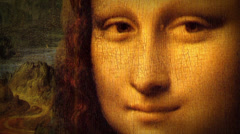Mona Lisa - Leonardo Da Vinci -Renaissance Painting Animation Stock Footage