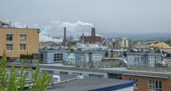 Quebec city, industrial skyline Stock Photos